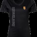Ladies V-Neck Interlock T-Shirt Nyenrode Alumni VCV Logo 2015