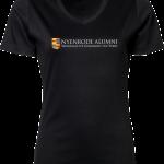 Ladies V-Neck Interlock T-Shirt Nyenrode Alumni VCV Original Logo