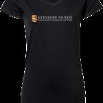 Ladies Stretch Tee Extra Long Nyenrode Alumni VCV Original Logo